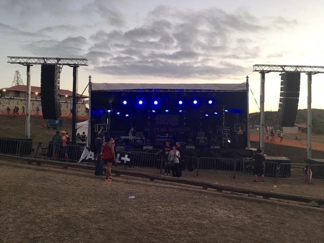 Scène au Blackwoodstock Festival